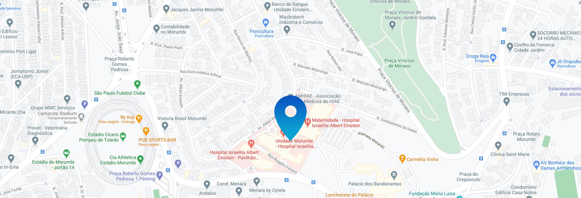 Mapa da localização do consultório Morumbi